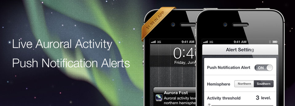 Live Auroral Activity Push Notification Alerts
